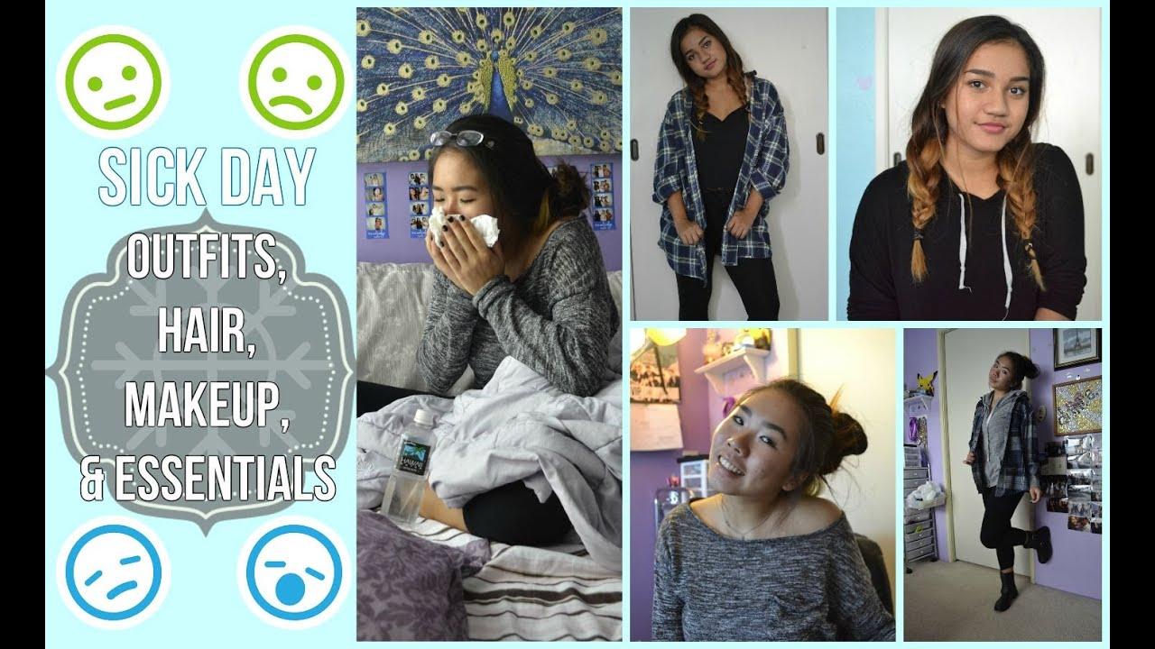 Sick Day Outfits Makeup Heatless Hair u0026 Essentials Fall Edition! u2661 - YouTube