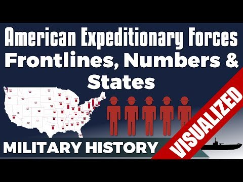 American Expeditionary Forces: Frontlines, States & Numbers - WW1