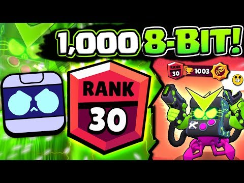 1000 8-BIT IN SHOWDOWN WITH BEST SKIN! RANK 30 8BIT GAMEPLAY IN BRAWL STARS!