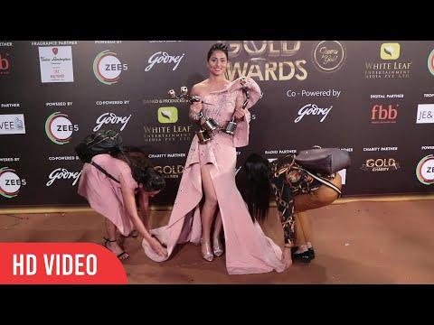 Oh My God ! Hina khan WINS 4 Gold Awards 2019 | Golden Moment For Hina khan