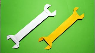 Gift for Father's day | How to make a Wrench ORIGAMI out of paper Tutorial DIY