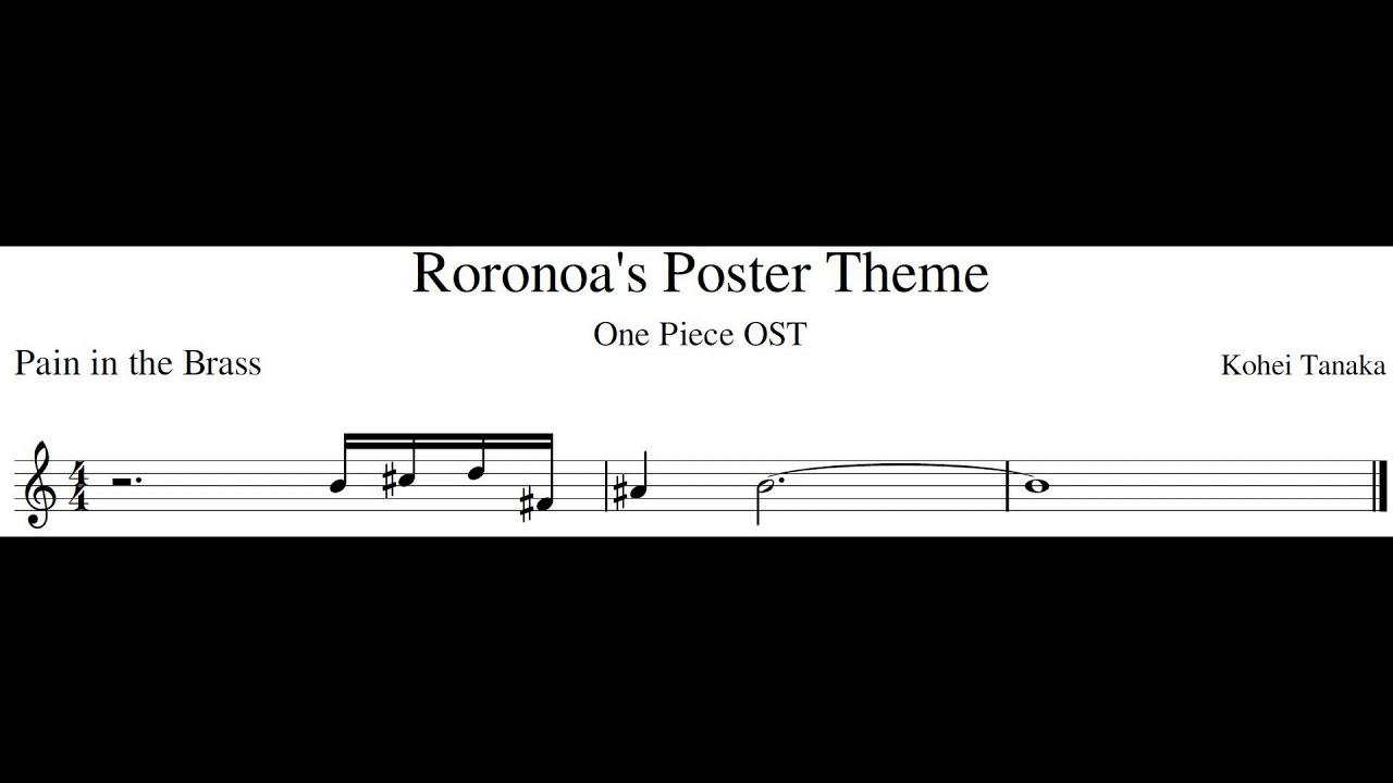 One Piece OST - Zoro's Poster Theme┃Bb Play-Along