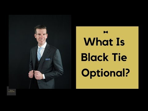 What does black tie optional wedding mean