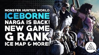 Monster Hunter World Iceborne Reaction - Nargacuga is BACK! New Game, G Rank, Ice Map & More!