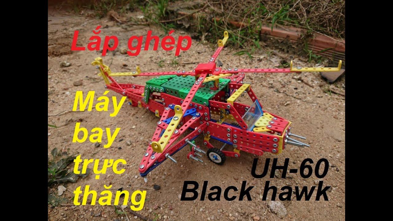 Lắp ghép máy bay trực thăng chiến đấu black hawk UH – 60.