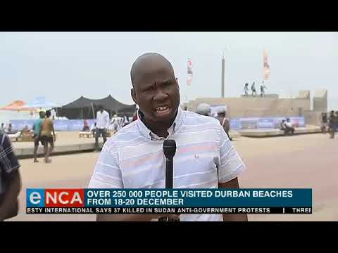 Thousands of holidaymakers have descended to Durban
