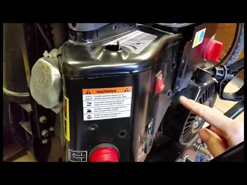 Drain gas in my Sno-tek 24in snow blower