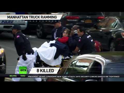 'Deadliest terrorist attack since 9/11': Manhattan suspect shot & detained as 8 killed, 12 injured