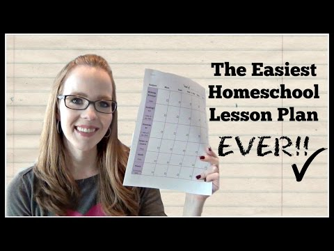 The Easiest Homeschool Lesson Plan EVER! | My 6th Grader's Weekly Lesson Plan