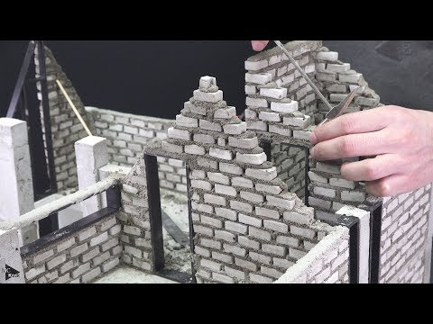 How To Make Dream Mini House #5 - BRICKLAYING - Beautiful House Model