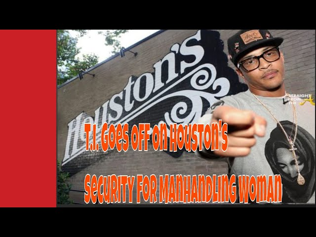 T.I. Goes Off On Security For Manhandling Woman