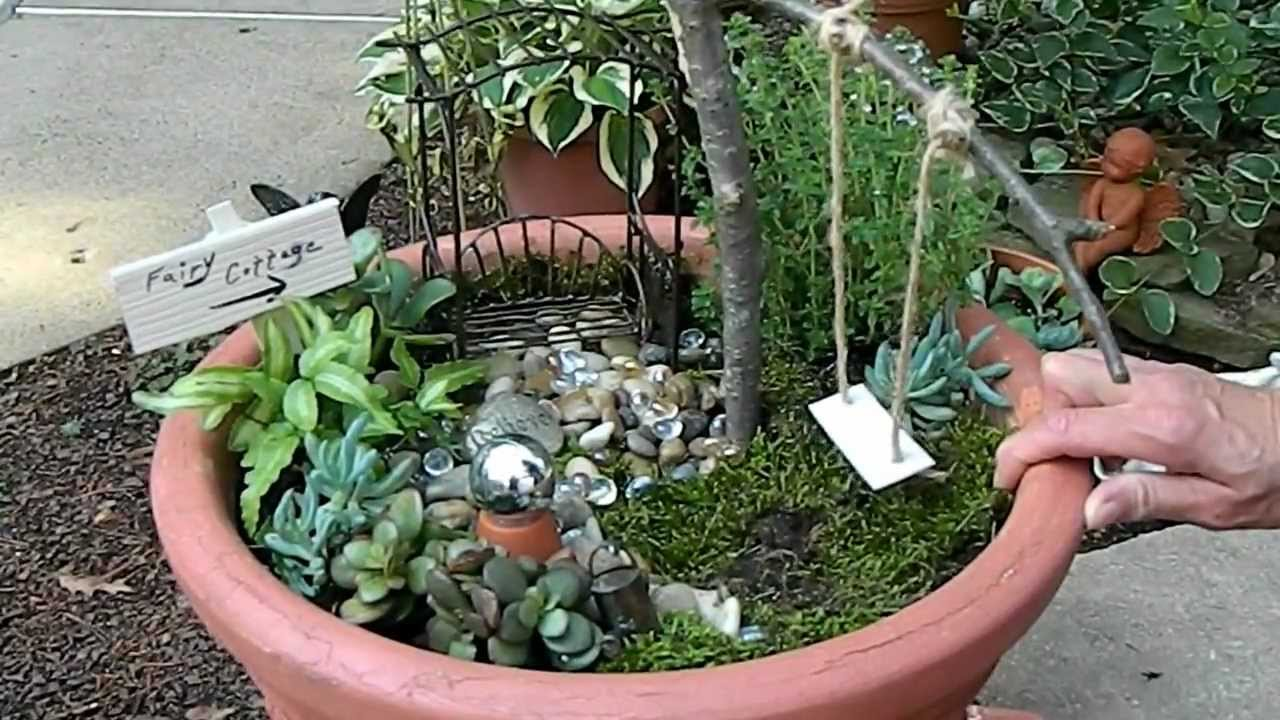 How to create a fairy dollhouse garden youtube for How to create a garden