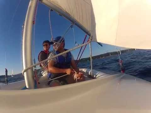 dinghy sailing with Gen