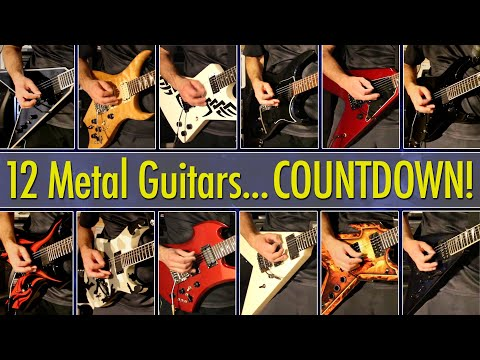 Top 12 Guitars For Heavy Metal! Countdown Of Affordable + Custom USA Models
