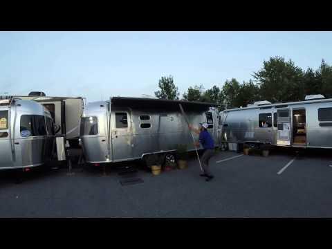 Innovative Airstream Zip Dee Awning In The Rain | Doovi