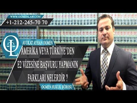 Amerika Veya Türkiye'den E2 Vizesine Başvuru Yapmanın Farkları Nelerdir ?