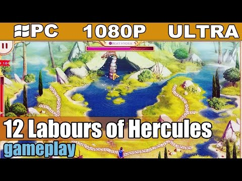12 Labours of Hercules gameplay HD [PC - 1080p] - Casual Strategy / Time Management