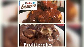 AMAZING KINDER BUENO PROFITEROLES (takes 1 hour)  Sofia makes easy profiteroles recipe