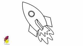 Easy Space Ship - how to draw Space Ship