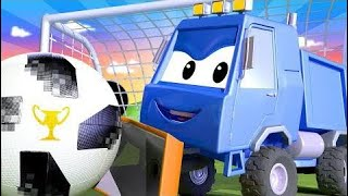 Carl el Super Camión y el Camión Policía en Auto City camión de bomberos y patrulla de policía, y e