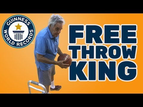 Most consecutive basketball free throws (blindfolded) - Guinness World Records