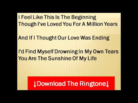 Stevie Wonder - You Are the Sunshine Of My Life Lyrics