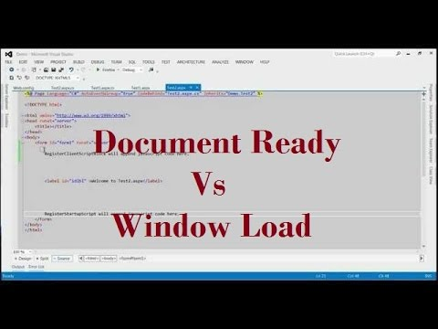 Difference Between Document Ready And Window Load