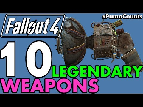 Top 10 Best and Coolest Legendary Guns and Weapons in Fallout 4 #PumaCounts