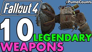 Top 10 Best and Coolest Legendary Guns and Weapons in Fallout 4 PumaCounts
