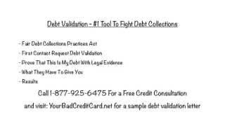 Debt Validation - #1 Tool To Fight Debt Collections