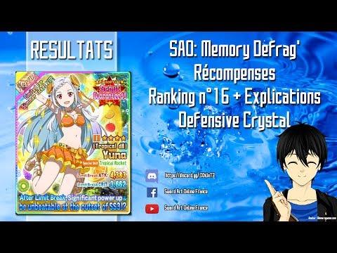 SAO: Memory Defrag' -  Récompense Ranking n°16 + Explications Defensive Crystal