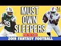 Must Own Sleepers For 2019 Fantasy Football