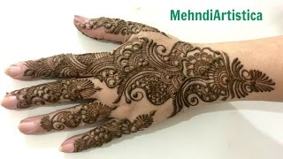Gambar cover Pure Arabic Mehendi Design For Hands:Traditional Arab Henna Bel By MehndiArtistica (Easy Tutorial)