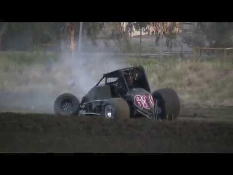 USAC West Coast Sprint Car Crash @ Keller Auto Speedway 3/25/17