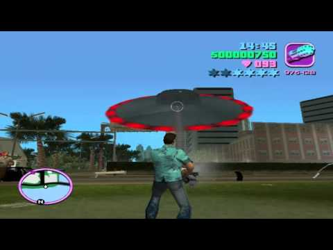 Mod UFO xuất hiện trong game GTA Vice City