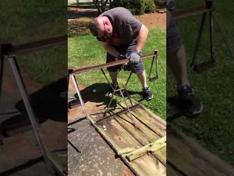 How we restored a metal frame picnic table