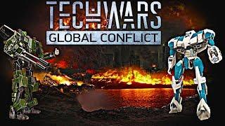 TECH WARS GLOBAL CONFLICT НОВАЯ ИГРА про роботов онлайн игра битва за контроль над рядом локаций.