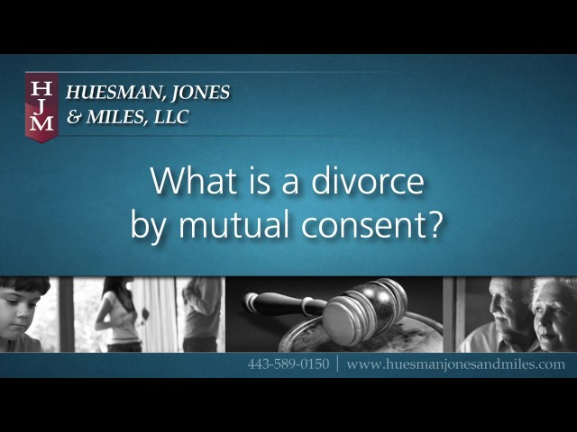 Grounds for Divorce:  Divorce by Mutual Consent