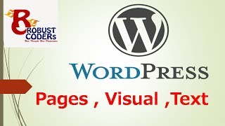 Wordpress tutorial in hindi part-6| Wordpress Pages |How to create new page in wordpress