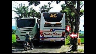 SOPIR BUS EDAN..!! Inilah Sopir Bus Paling Ugal-Ugalan Di Indonesia