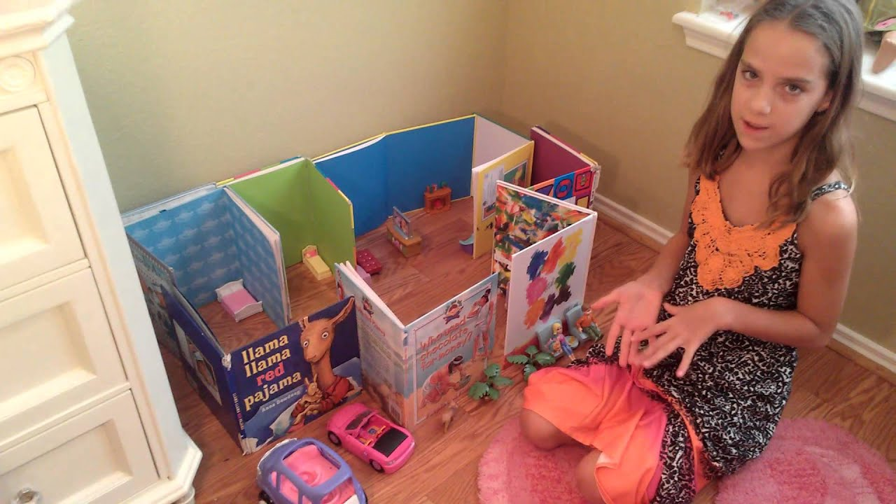 How to make your own dollhouse out of books youtube for How to make your own dollhouse