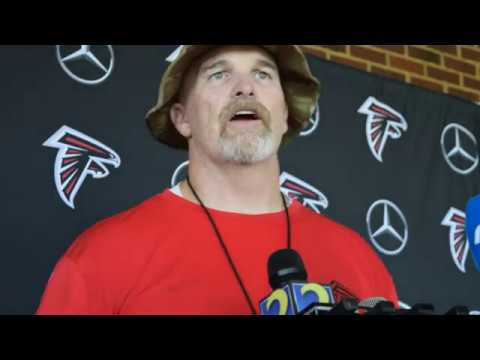 Dan Quinn at Atlanta Falcons Training Camp 2018 Day 7