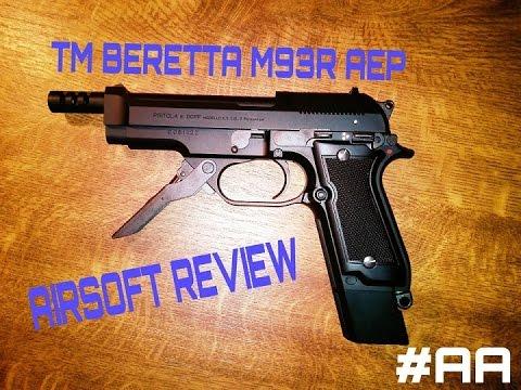 TOKYO MARUI BERETTA M93R AEP TM AIRSOFT REVIEW [DE/1080p]