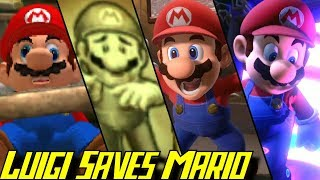 Evolution of Luigi saving Mario in Luigi's Mansion (2001-2019)