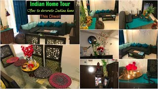Indian Home tour Part-1   decorate living room for diwali   Organizopedia