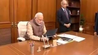 Narendra Modi takes charge of Prime Minister's Office