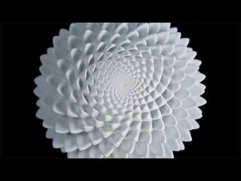 3D-printed sculptures create optical illusions using the Fibonacci sequence