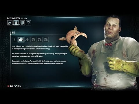 Batman Arkham Knight: Professor Pyg Bio & Audio Tapes
