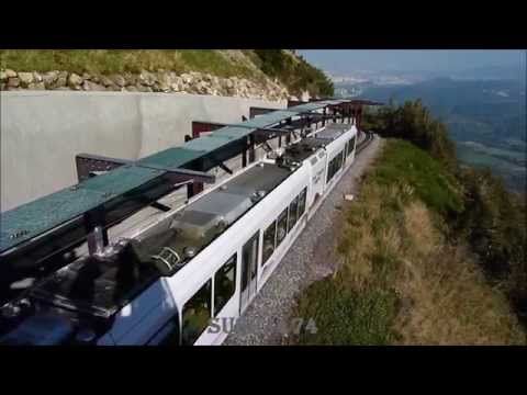 LE PUY DE DOME EN TRAIN (le panoramique des dômes, septembre 2014)