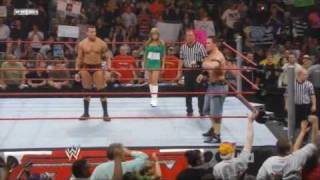 RAW 03/17/08 - Randy Orton & John Cena vs Entire Raw Roster [1/2] HQ